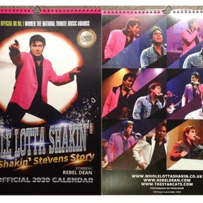 "LIMITED EDITION A3 ""WHOLE LOTTA SHAKIN'"" 2020 colour calendar"